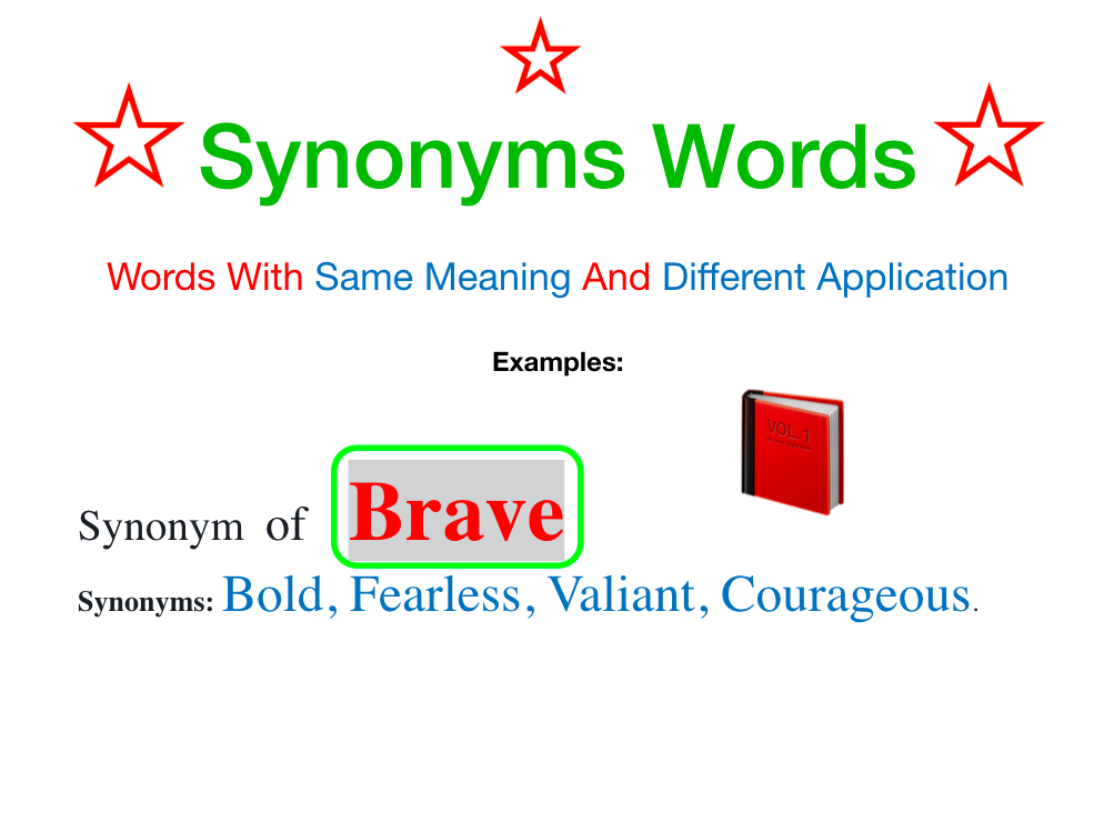Synonyms Words