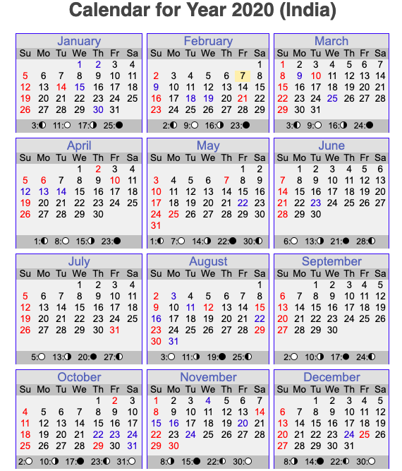 Months Name In Hindi And English Calendar 2020