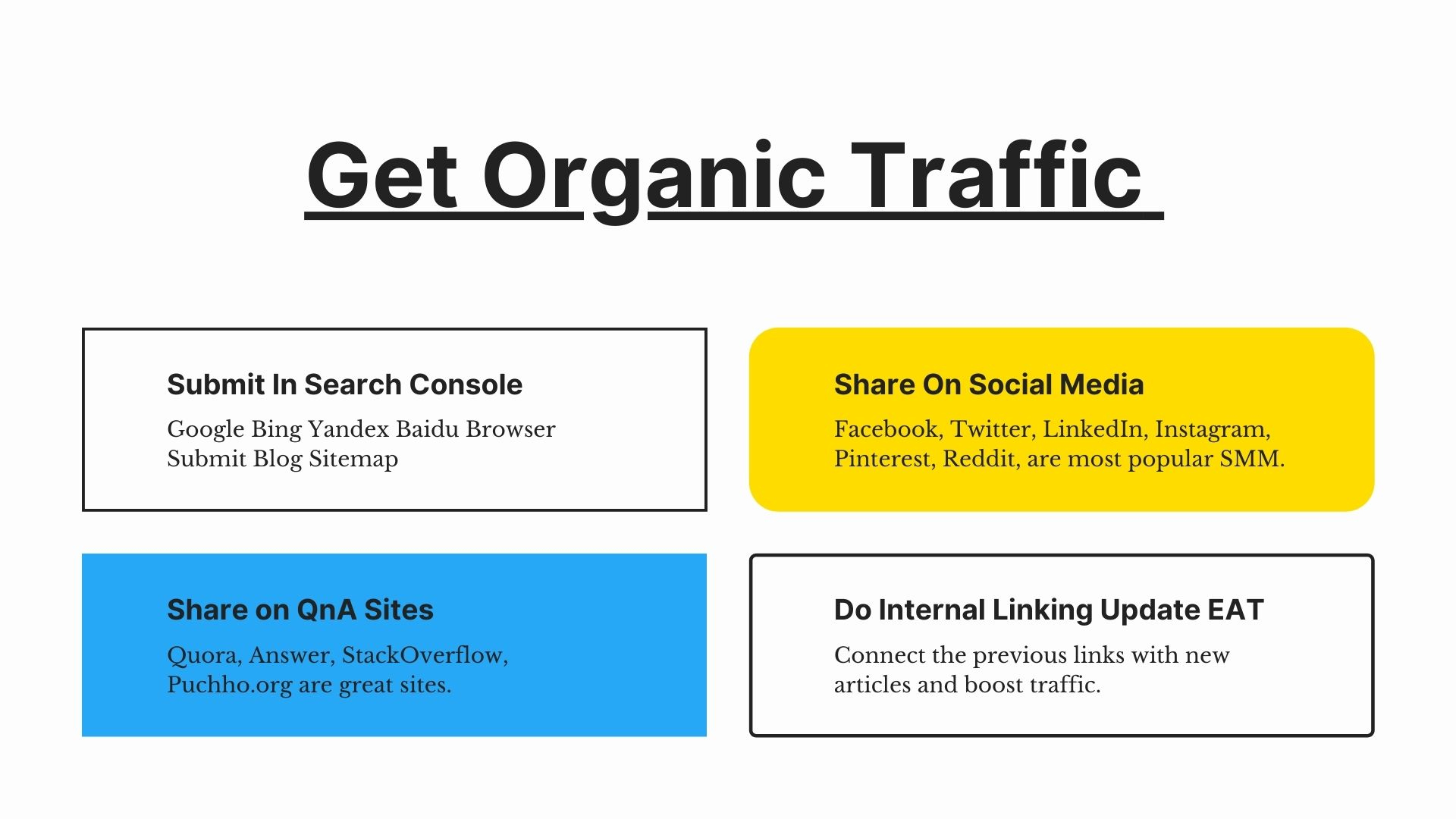 How To Get Organic Traffic To A New Blog 2021