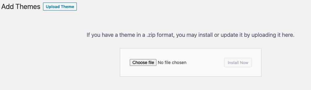 Install WordPress Theme From Zip