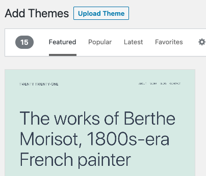 Default theme dashboard