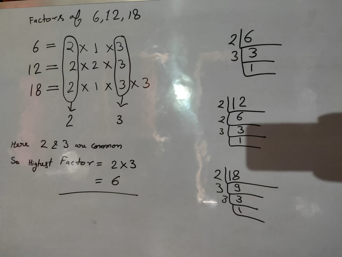 Highest Common Factor And Least Common Multiple [ L.C.M. & H.C.F. ]