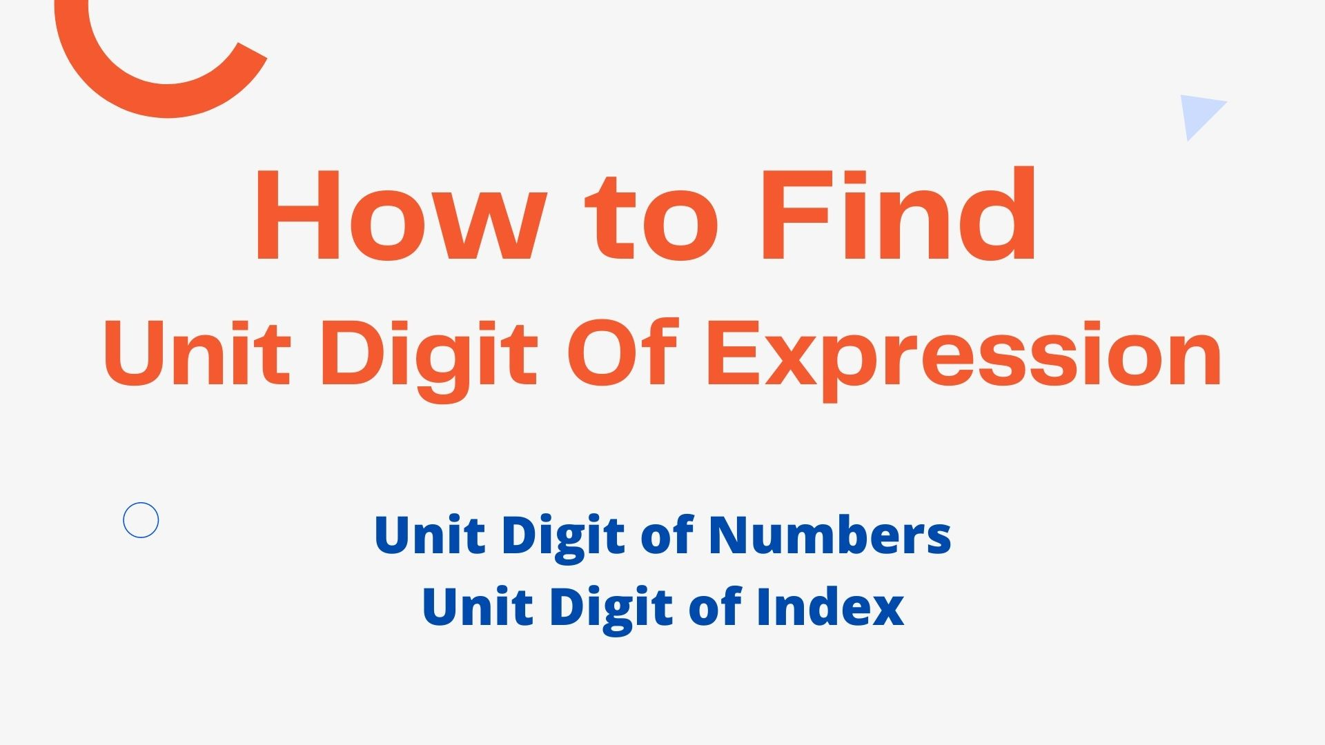 How to Find Unit Digit Of Expression 2021