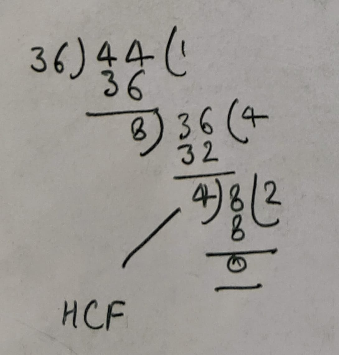 HCF of 24 36 And 44