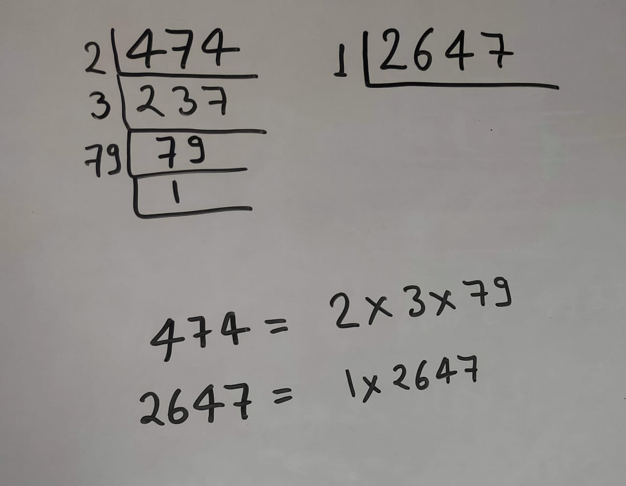 HCF of 474 And 2647 By Prime Factorization Method