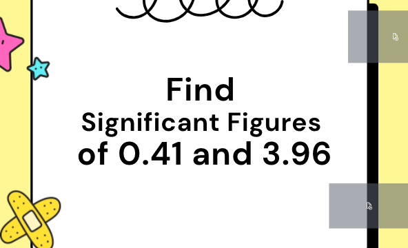 Find Significant Figures of 0.41 and 3.96