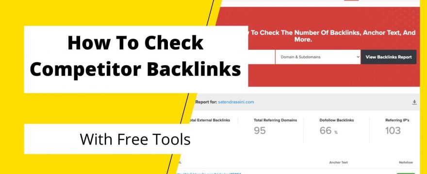 How To Check Competitor Backlinks