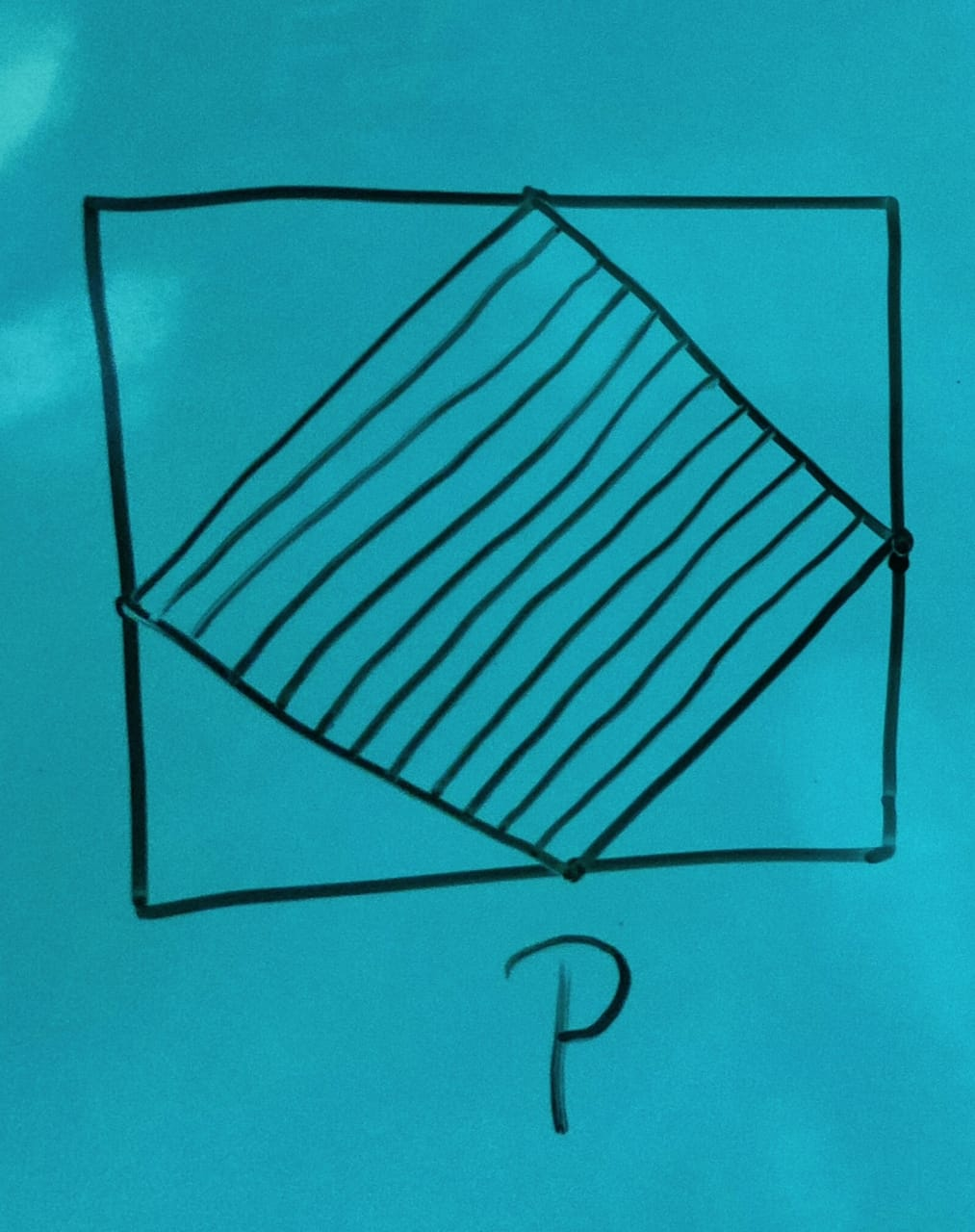 Congruent Squares In The Picture Below With The Midpoints are Given. The Relation Between Shaded Areas P Q and R is: